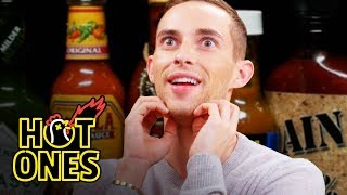 Adam Rippon Competes in the Olympics of Eating Spicy Wings | Hot Ones