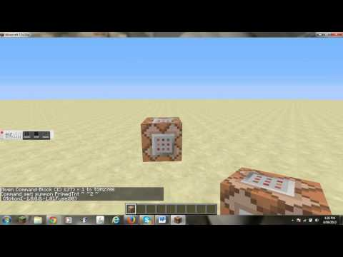 Tnt Cannon only with only with command blocks 1.7.2