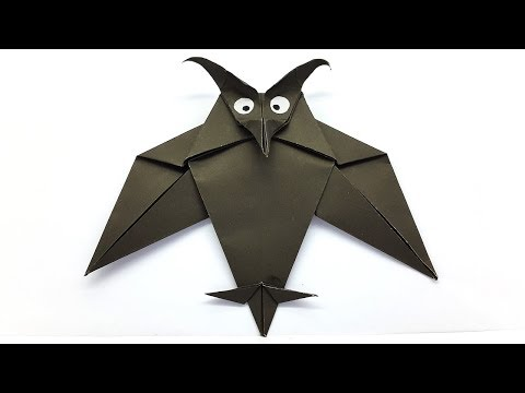 Origami Owl easy tutorial - How to make a Paper Owl step by step