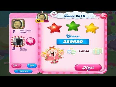 Candy Crush Saga 2819   |   3-Star ⭐⭐⭐   |   ONE TRY