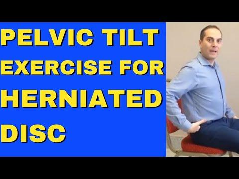 Pelvic Tilt Exercise For Herniated Disc & L4 L5 S1 Disc Bulge Exercise For Bulging Disc L4 L5