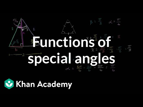 Finding Trig Functions Of Special Angles Example Trigonometry Khan Ac