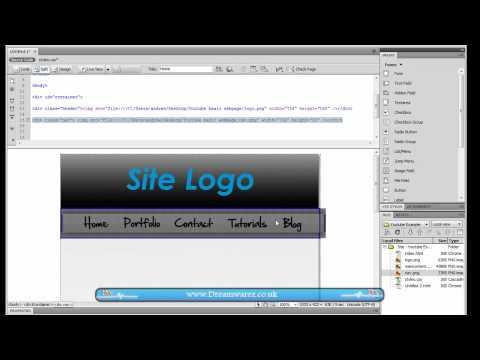 Dreamweaver Tutorial - How To Create a Basic 2 Column Website Layout [CSS & HTML]