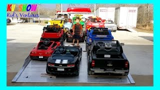 HUGE POWER WHEELS COLLECTIONS PART 2! Kid Loading All Of His Power Wheels Ride On Cars For Kids