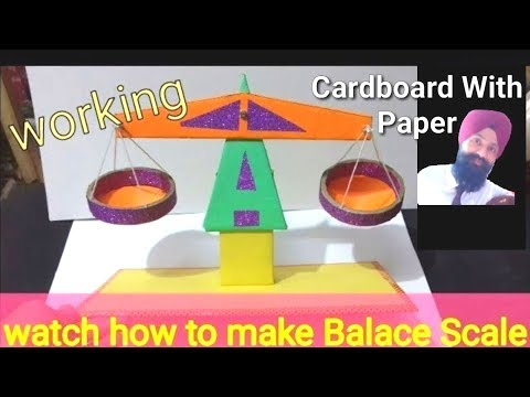 ✔👍How to make working balace scale for kids at home || diy balance scale || weighting scale