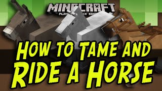 Minecraft Title Update How To Ride And Tame A Horse Wii U Xbox One Xb