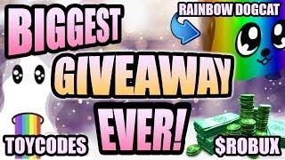 HUGE Bubble Gum Simulator SECRET PET Giveaway 🌈 Rainbow DogCat 🎁 Overlords 💰 TOY CODES & Robux