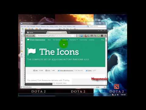 Tutorial HTML CSS Icon Font Awesome