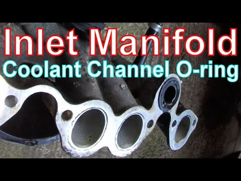 How to Remove air Inlet Manifold & o-ring on a VW Golf Mk2.