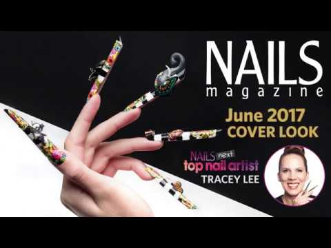 Melli Mello-Inspired Nails with 3-D Gel Heart + Baroque Accents
