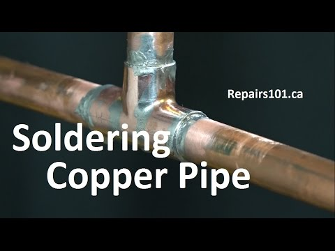 Soldering Copper Pipe Basics + Noisy Pipes / Water Hammer Fix