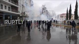 Greece: Antifa protesters clash with police following opening of Golden Dawn office