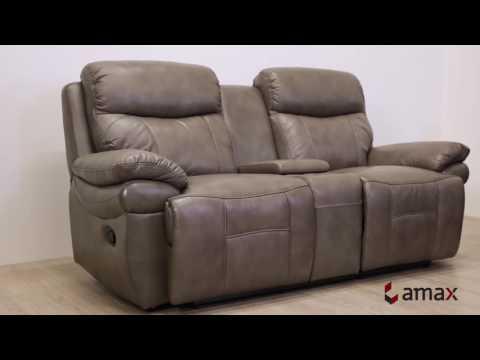 Summerlands Grey Top Grain Leather Living Room Furniture