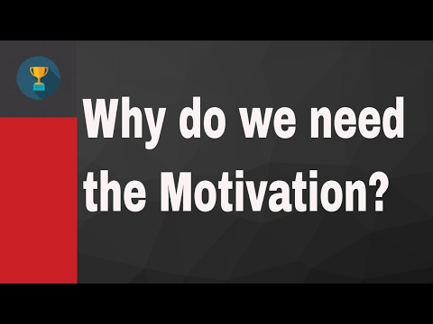 why do we want the motivation?