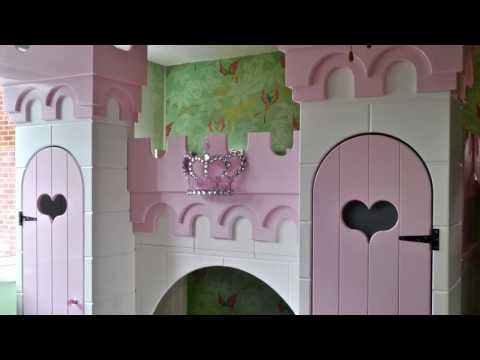 Installation Time Lapse of Children's Princess Castle Bunk Bed by DreamCraft Furniture