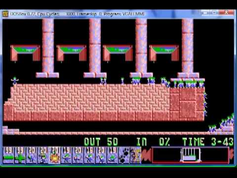 Lemmings 1 Fun Level 17  Easy when you know how.mpg