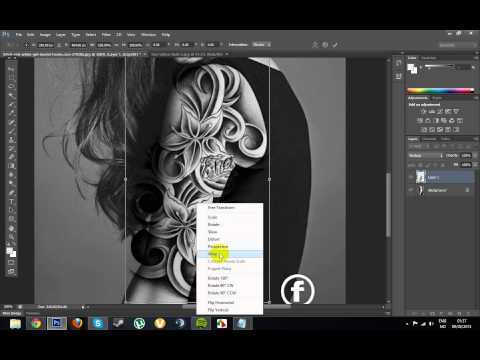 How to make a realistic tattoo in Photoshop CS6! (Full Tutorial)