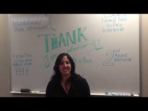After Interview Thank You Note: Informational Interview