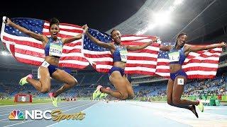 Team USA women sweep 100m hurdles podium in Rio | NBC Sports