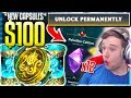 LUCKIEST OPENING!! 100% LEGENDARY SKIN & GEMSTONES! $100 Cursed Capsules Opening - League of Legends