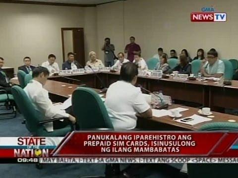 Pagpaparehistro ng prepaid sim cards, inalmahan ng telcos; posible raw malabag ang right to privacy