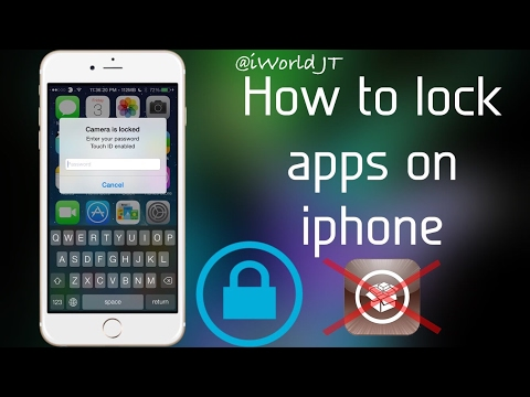how to lock apps on iphone without jailbreak (2017)