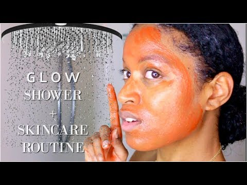 My FULL Shower + Skincare Routine For Super Glowy Skin!|NON TOXIC & ALL NATURAL