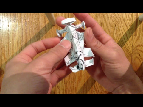 Origami f1 race car part 1 of 3