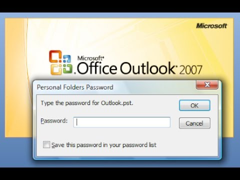 How to add password in outlook 2007 // Password in .pst file