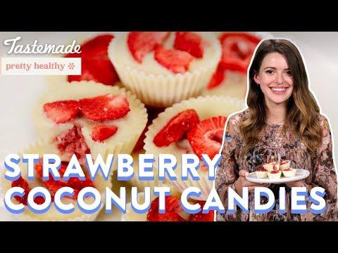 Vegan Strawberry Coconut Candies | Pretty Healthy