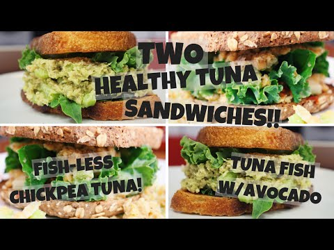 A Healthy Tuna Sandwich | How To Make A Healthy Tuna Sandwich | Chickpea Tuna Sandwich