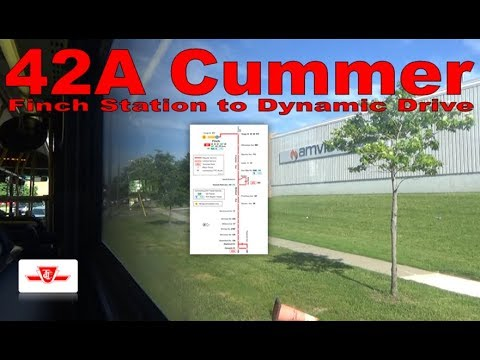 42A Cummer - TTC 2010 Orion VII NG 8192 (Finch Station to Dynamic Drive)