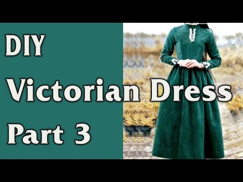 DIY - Victorian Dress. From Curtain to Dress - part 3/4. Sleeves.