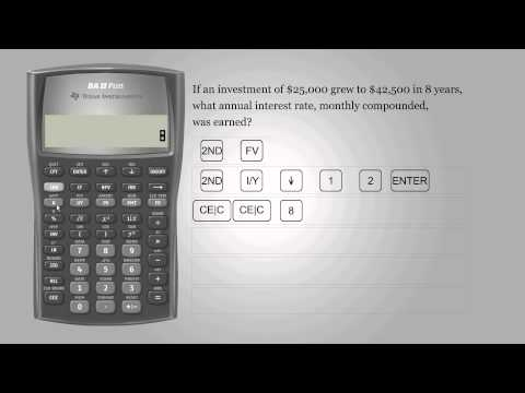 Interest rate – Texas Instruments BA II PLUS