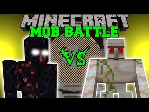 MUTANT OBSIDIAN GOLEM VS MUTANT IRON GOLEM - Minecraft Mob Battles - Mods