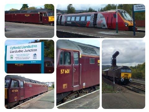 Trains at Llandudno Junction 17.10.2015 - inc Statesman & Roman Chester railtours & RHTT