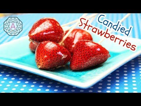 Street Food: Strawberry Hard Candy (딸기 사탕)