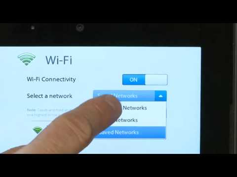 Connecting your PlayBook to a Wi-Fi network