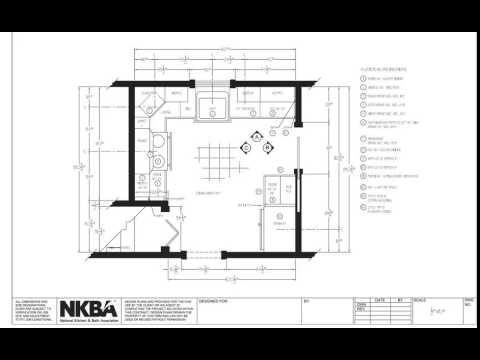 Kitchen and Bath Drawing: Floor Plan