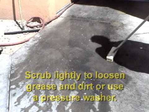 How to Clean Sidewalks, Driveways and Garage Floors with QUICK DEGREASER