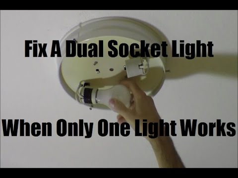 RicksDIY Trouble Shooting Non Working Dual Socket Light Fixture