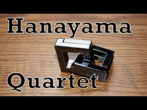 Hanayama Quartet Easy to Follow Full Solution
