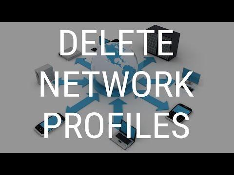 Delete Network Profiles in Windows