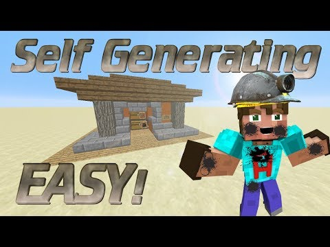 How to make a Charcoal Generator in Minecraft   Automatic Charcoal Farm   Automatic Redstone Farm