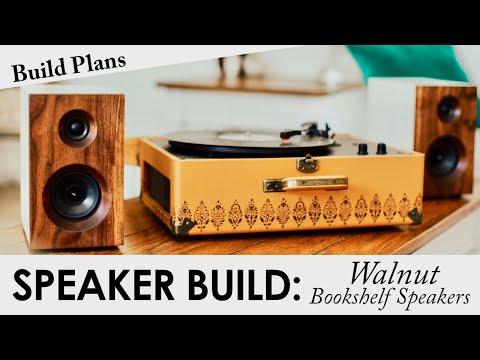 Walnut Bookshelf Speakers | BUILD PLANS | DIY Passive Speaker Build