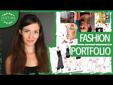 How to create a fashion portfolio | TUTORIAL Parsons fashion design major | Justine Leconte