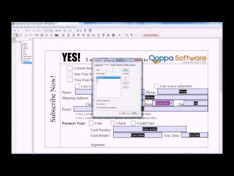 PDF Form Field Editor / Designer for Mac, Windows, Linux