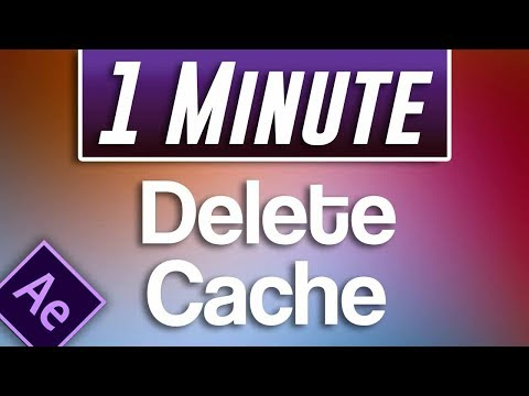 After Effects CC : How to Delete Disk Cache