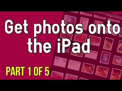 How to get photos onto the iPad