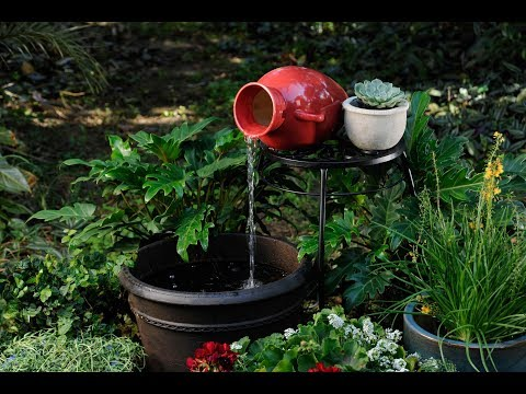 How to Build a Tabletop Fountain with a Pond Spitter